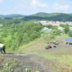 ズリ山整備を行いました